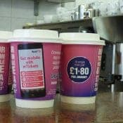 First Bus Target Commuters with Coffee Cups