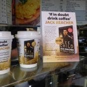 Latest Jack Reacher Thriller on Coffee Cups for PRH