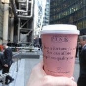 Thomas Pink Targets City Workers with Coffee Cups