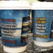 PRH Get Creative with Coffee Cups at Harrogate Literary Crime Festival