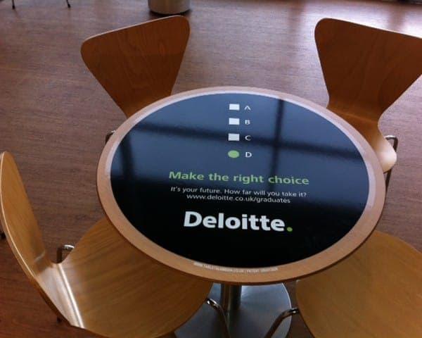 deloitte tablewrap table advertising media university network (1)