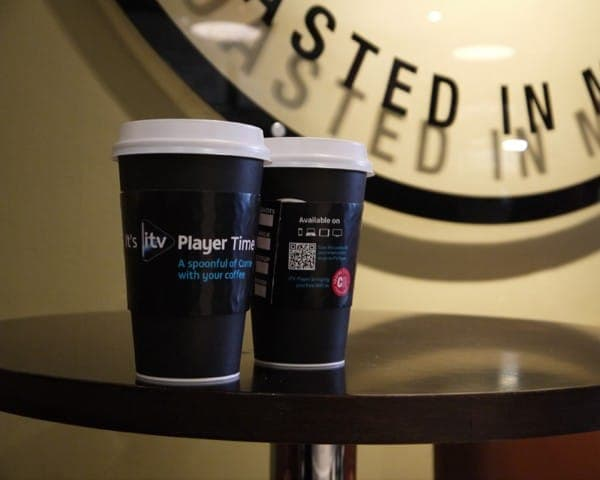 itv player coffee sleeve coffee cup advertising media (4)