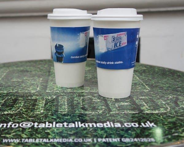 wrigley coffee sleeve coffee cup advertising media (3)
