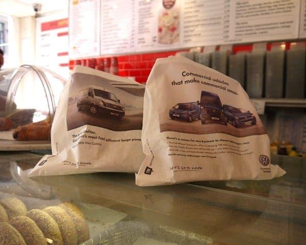VWCV sandwich bag butty bag advertising media bag media