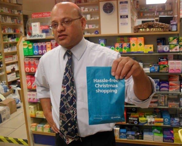 arriva pharmacy bag advertising media bag media
