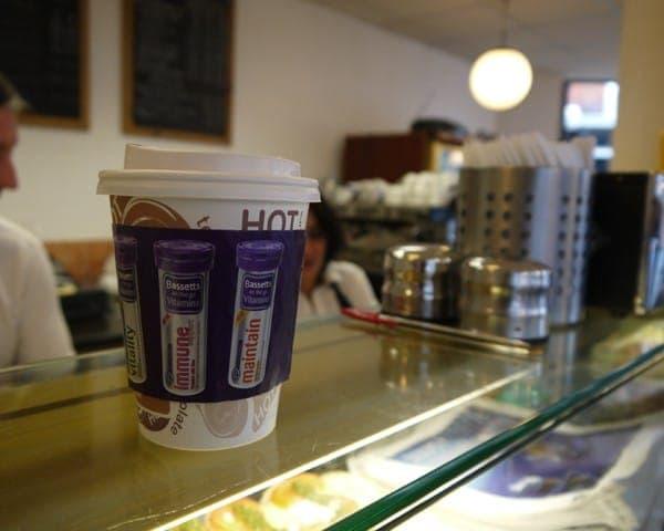 bassetts coffee sleeve advertising media (1)