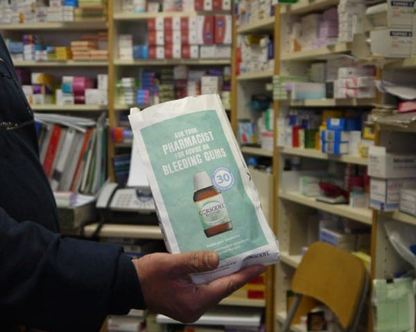 corsodyl pharmacy bag advertising media bag media