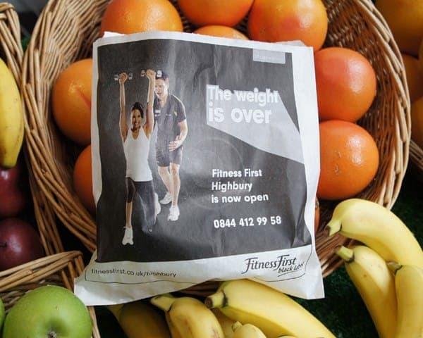 fitness first sandwich bag butty bag advertising media (1) bag media