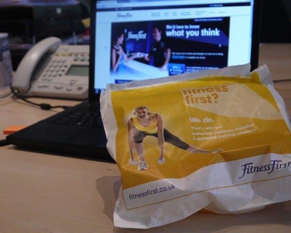 fitness first sandwich bag butty bag advertising media (2) bag media