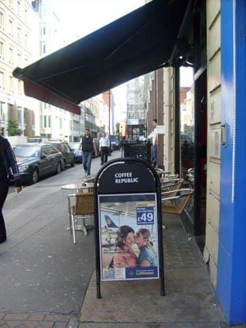 lufthansa wifi pos leaflet display a board advertising media