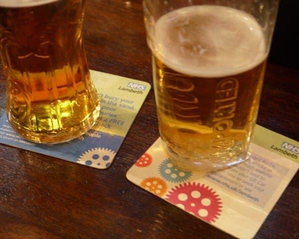 nhs beer mat advertising media