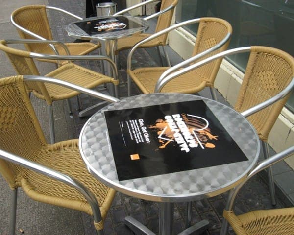 orange rockcorps tablewrap table advertising media coffee culture university network (2)