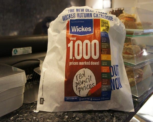 wickes sandwich bag butty bag advertising media (1) bag media