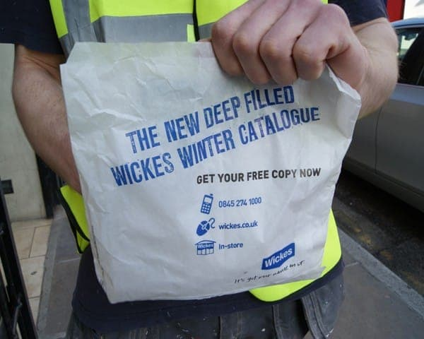 wickes sandwich bag butty bag advertising media (2) bag media