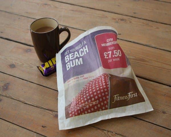 Fitness First gym sandwich bag butty bag advertising media bag media