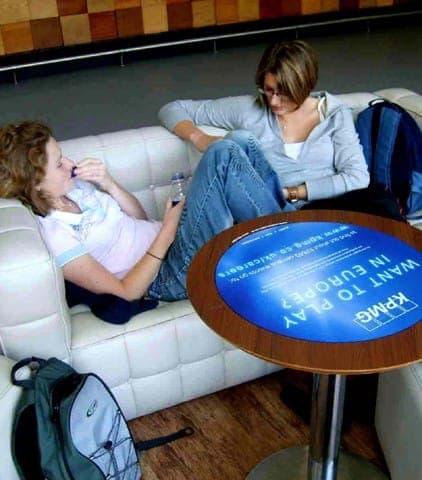 KPMG tablewrap table top advertising media universities