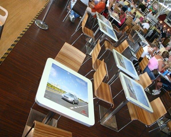 Kia tablewrap table top advertising media msa motorway