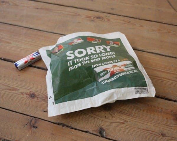 Trebor sandwich bag butty bag advertising media bag media