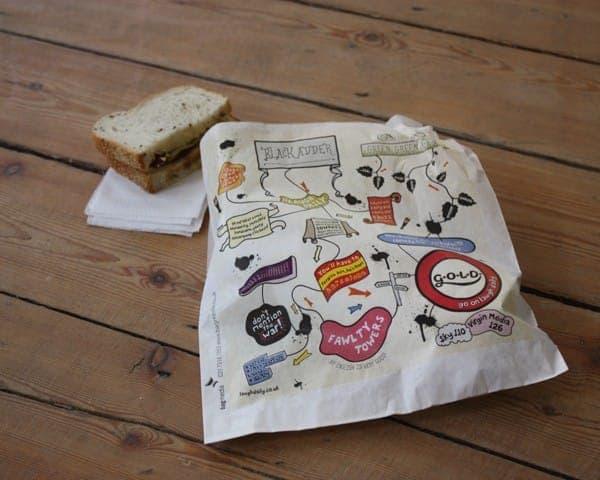 UKTV G.O.L.D. sandwich bag butty bag advertising media bag media