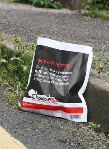 hampshire county council sandwich bags butty bags advertising media bag media