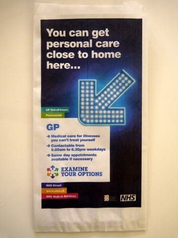 nhs selected campaigns pharmacy bag advertising media bag media