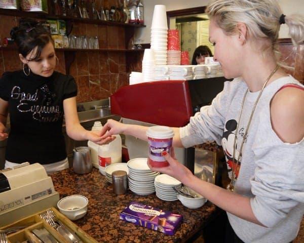 cadbury fingers coffee sleeve coffee cup advertising media