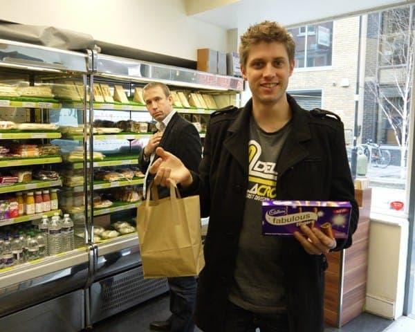 cadbury fingers product sampling advertising media