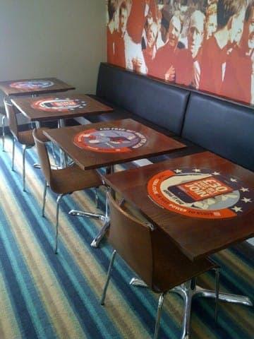coral tablewrap table advertising media lucozade powerleague network (1)