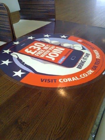 coral tablewrap table advertising media lucozade powerleague network (4)