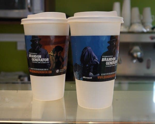 microsoft internet explorer 9 ie9 brandon generator coffee sleeve coffee cup advertising media coffee culture network cafes (1)
