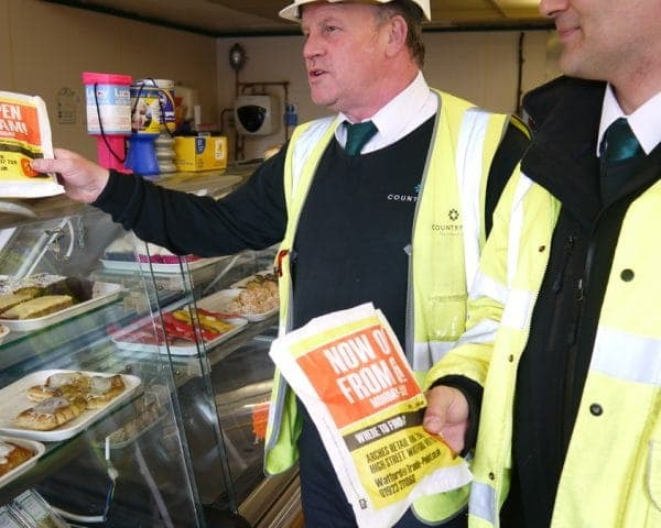 Tradepoint Bacon Butty Bag Advertising