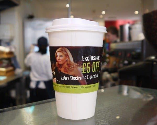 electric zebra coffee sleeve advertising media sandwich bars coffee culture network