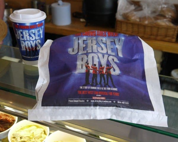 jersey boys coffee cups coffee sleeves advertising media sandwich bag advertising bag media sandwich bars coffee culture network