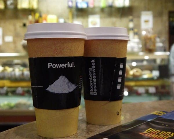 bloomberg business week coffee sleeve advertising media coffee culture network cafes