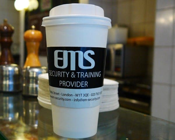 ems coffee sleeve advertising media coffee culture network cafes