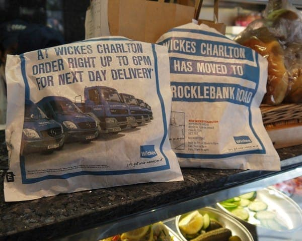 wickes sandwich bag advertising bag media bacon butty bags sandwich bar network greasy spoon