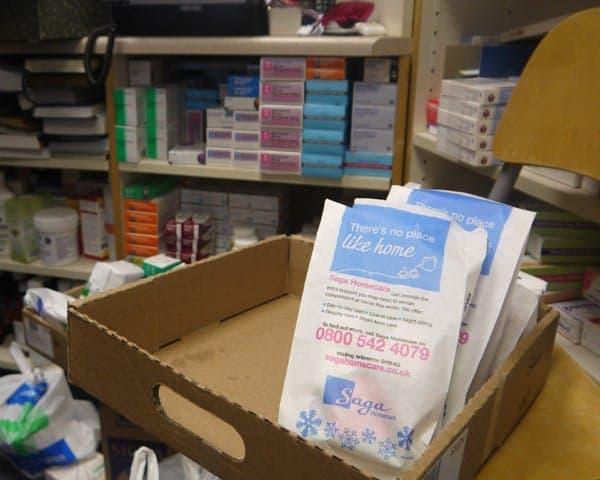 saga homecare pharmacy bag advertising bag media pharmacy network