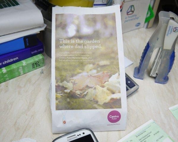Centra Pulse Pharmacy Bag Advertising (2)