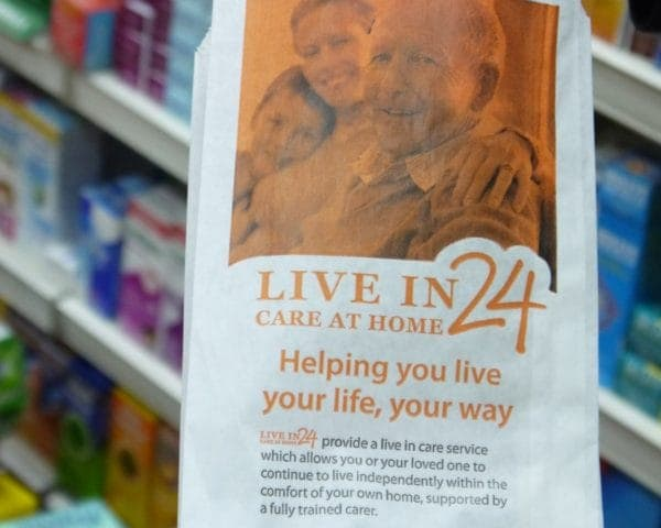 Cleeve Care Pharmacy Bag Advertising