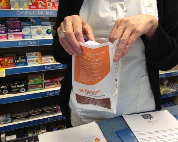 McCarthy & Stone Pharmacy Bag Advertising