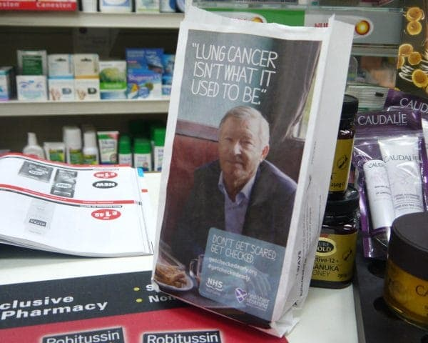 NHS Scotland Pharmacy Bag Advertising