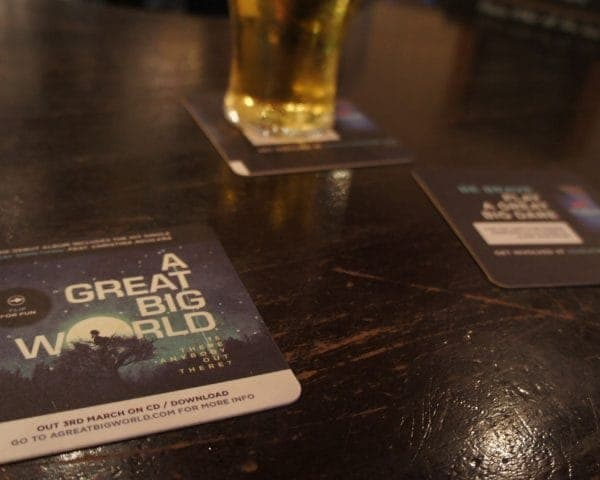 Sony Music- A Great Big World Beer Mat Advertising