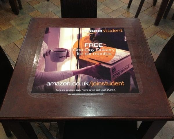 Amazon Tablewrap Advertising