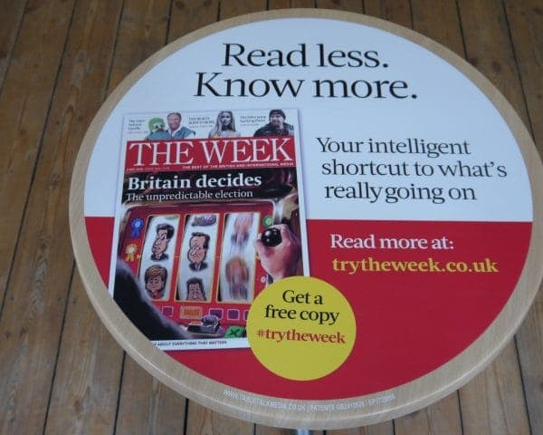 Dennis Publishing-The Week Tablewrap Advertising