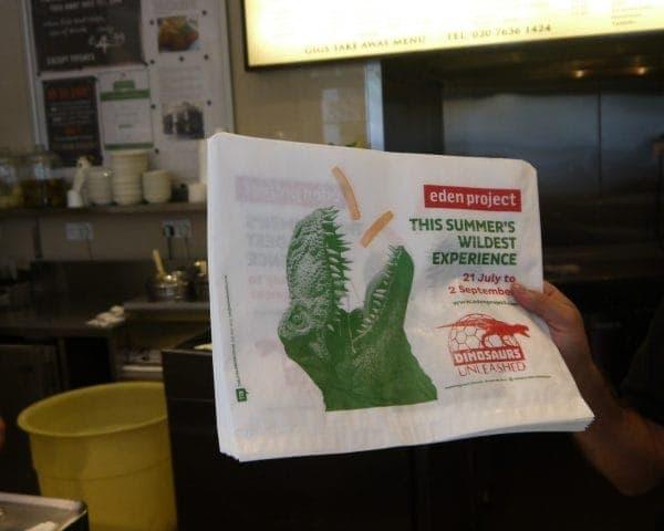 Eden Project Sandwich Bag Advertising