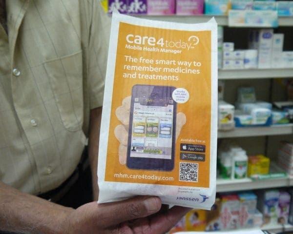 Janssen Pharmacy Bag Advertising