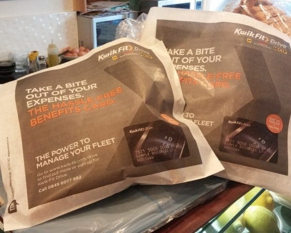 Kwik-Fit Sandwich Bag Advertising