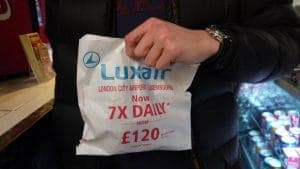 Luxair Sandwich Bag Advertising