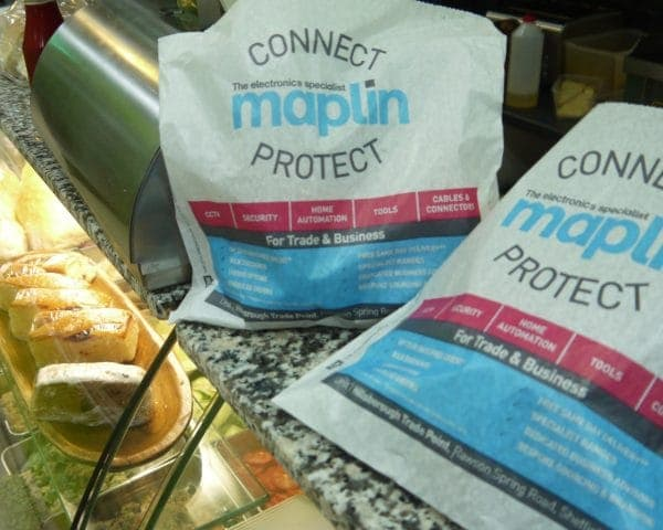 Maplin Sandwich Bags Advertising