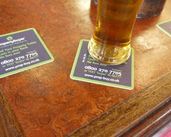 Property Buyer Beer Mat Advertising